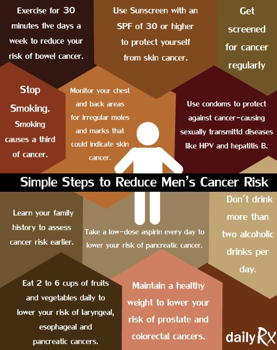 Simple Steps to Reduce Men's Cancer Risk | Men's Health ...