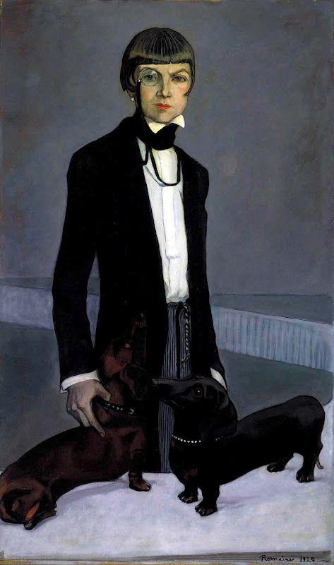 Romaine Brooks: Lady Una Troubridge, 1924. http://scalaregia.blogspot.com/2012/09/a-look-we-like_19.html