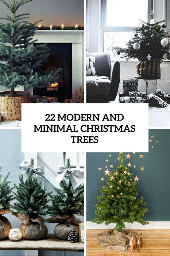 Modern christmas trees modern christmas and minimalist christmas on pinterest - Awesome the modern christmas decorations ...
