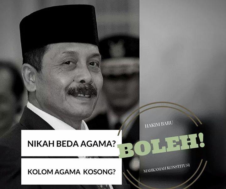 HAKIM MK BARU I DEWA GEDE PALGUNA SETUJU NIKAH BEDA #AGAMA DAN PENGHAPUSAN AGAMA DI KTP.   SHARE BAGI YANG MENDUKUNG HAK ASAZI MANUSIA UNTUK MENGATUR KEHIDUPAN PRIBADINYA SENDIRI.  Hakim MK Pilihan #Presiden #Jokowi akhirnya seseorang yang benar-benar mendukung hak asazi manusia dalam mengatur kehidupan pribadinya yang setuju nikah beda agama disahkan undang-undang dan juga penghapusan kolom agama di ktp  Apabila anda setuju bahwa kemerdekaan beragama dan berkeyakinan apapun termasuk tidak…