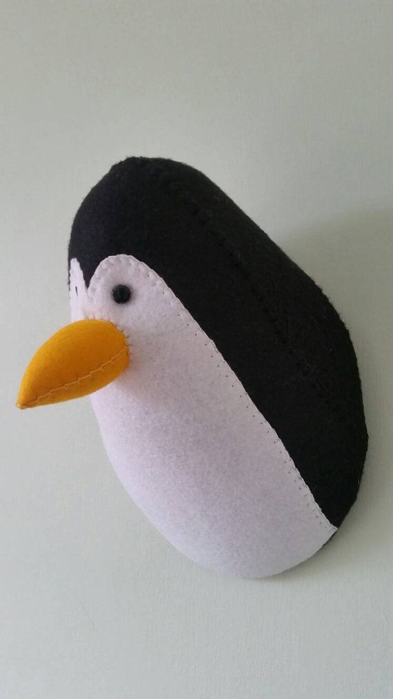 PENFOLD PENGUIN Faux Taxidermy Felt Wall by GillsPopArtEmporium