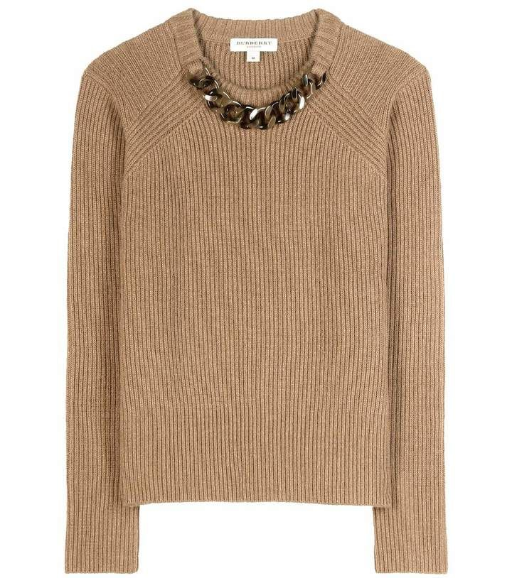 Burberry Embellished wool and cashmere sweater
