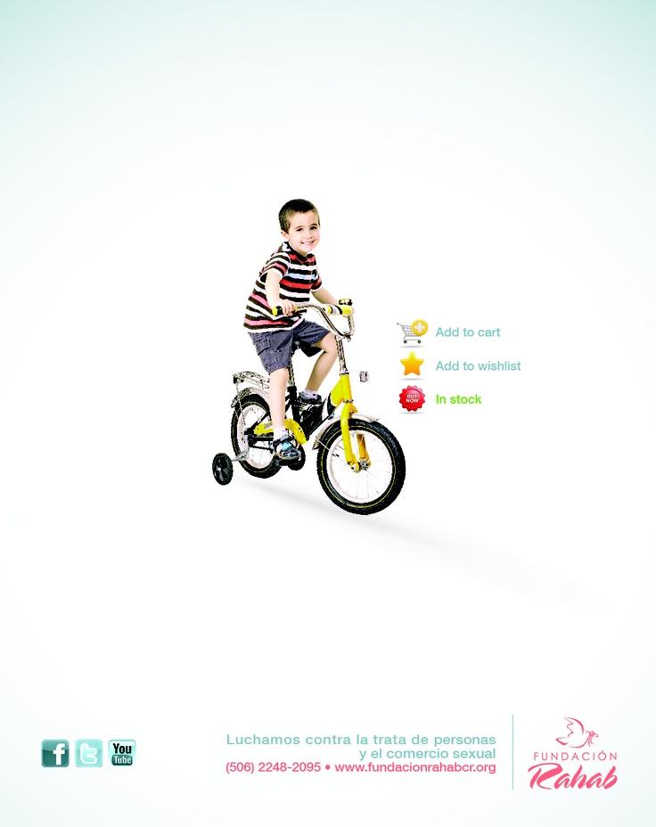 Segundo anuncio de prensa que forma parte de una campaña publicitaria contra la Trata de Personas con fines de Explotación Sexual de menores.