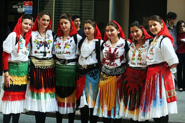 Pretty Albanian Girls Traditional Dress Eastern Europe