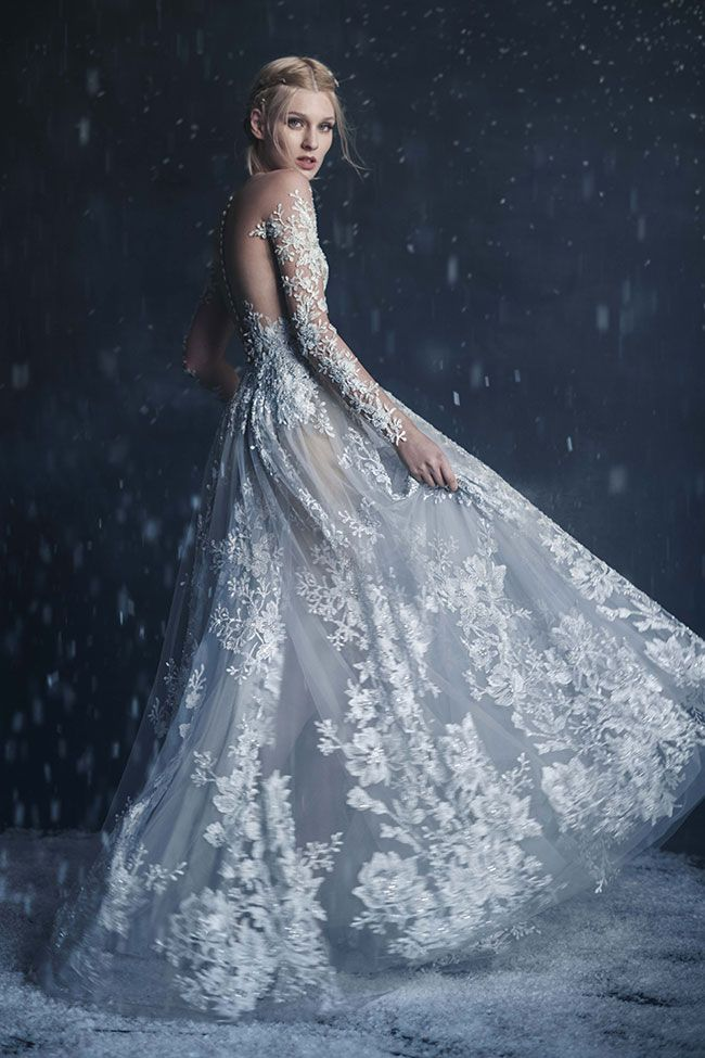 Paolo Sebastian 2016 Autumn - Winter Couture Wedding Dress Collection 'Snow Maiden'  See The Full Story at http://storyboardwedding.com/paolo-sebastian-2016-autumn-winter-couture-wedding-dress-collection-snow-maiden/
