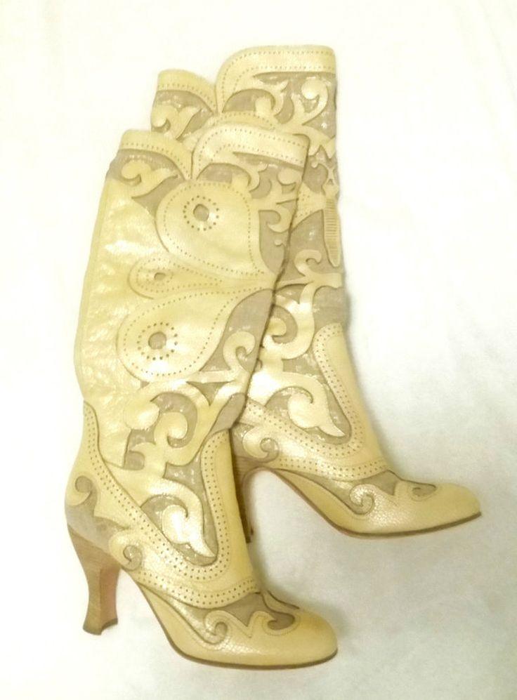 Anna Sui Boots Stiefel Schuhe GR 39.5 Luxus Top 10 in Kleidung & Accessoires, Herrenschuhe, Stiefel & Boots | eBay