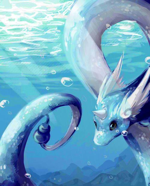 Dragonair Art by: http://cherrimut.tumblr.com/post/107146610466/could-you-please-draw-an-dragonair