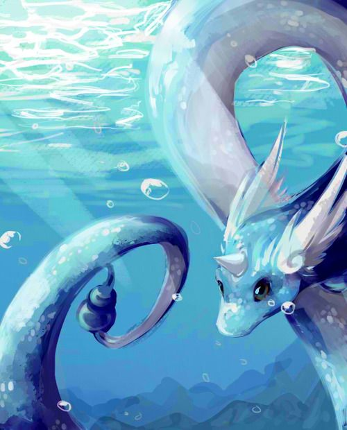 Dragonair Art by: http://cherrimut.tumblr.com/post/107146610466/could-you-please-draw-an-dragonair