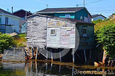 Old fishing shed in the small fishing community of Burgeo Newfoundland