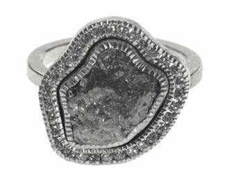 Todd Reed Palladium Raw Diamond Ring