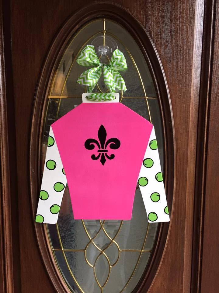 Ky Derby Jockey Silk Ky Derby Door Hanger Ky Derby Wreath Jockey