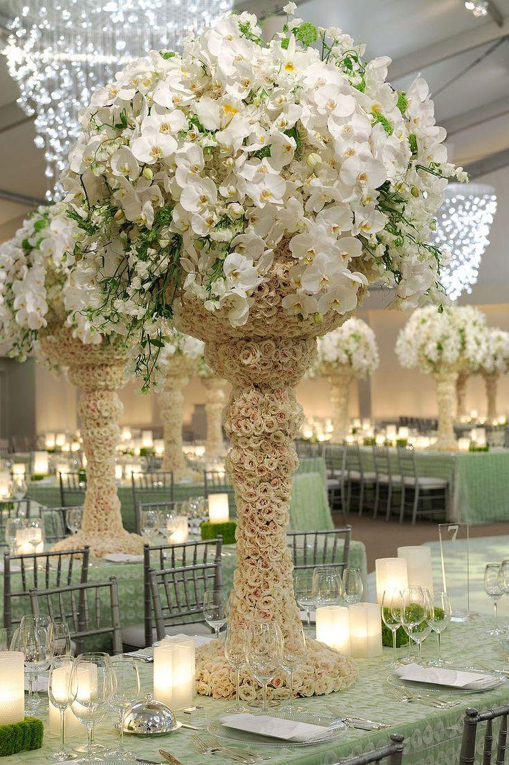 White Wedding Centerpiece Option Inspirations From The Preston Bailey Design Team