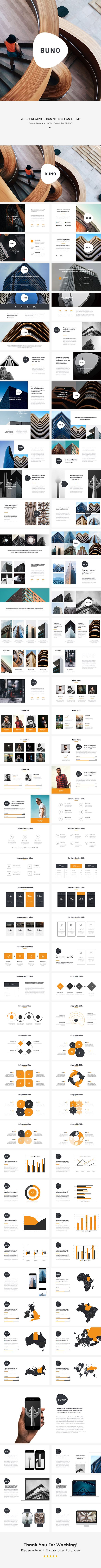 Buno Clean Keynote Template - 700+ Editable Icons