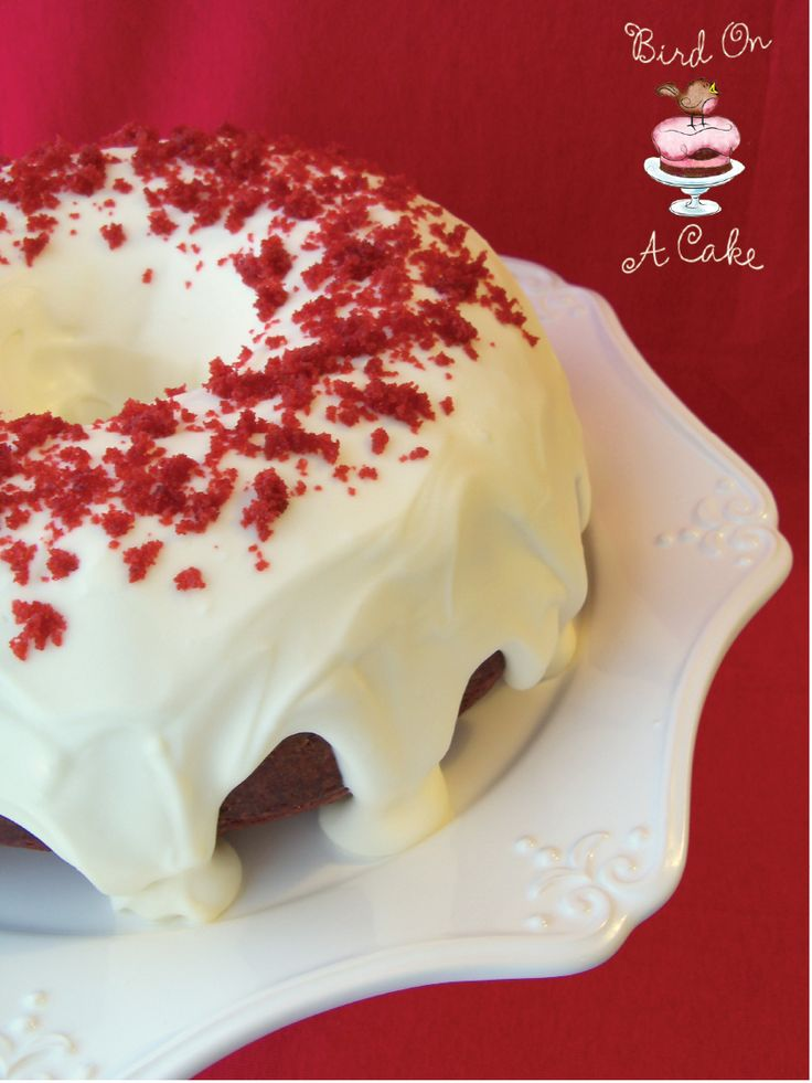 Red Velvet Bundt Cake. I made this GF for Christmas dinner today and not only was it pretty, it tasted great.