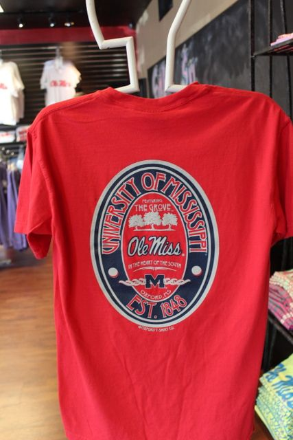 Ole Miss red oval comfort color $24.95