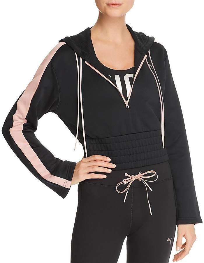 ae4abdb99 Puma En Pointe Savannah Cropped Hooded Sweatshirt | Products ...