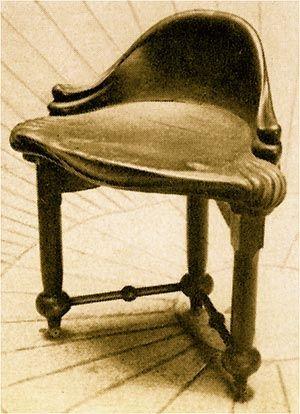 Taburete Calvet diseñado por Antoni Gaudi (Casa Calvet)