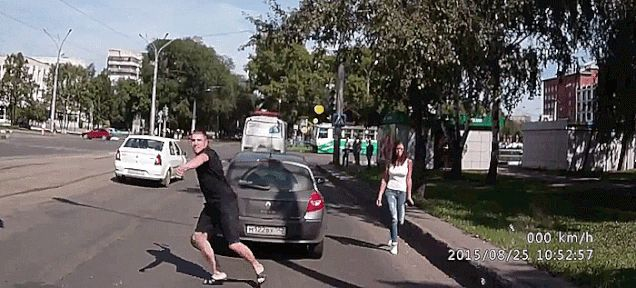 Russian Road Rager Escalates From Axe Attack To Shooting In Traffic