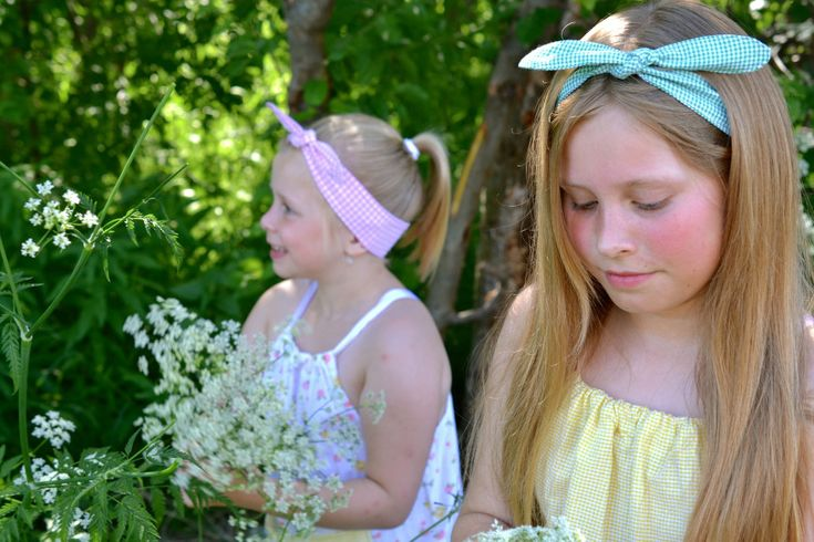 DIY: Sy herlige hårbånd! Gratis mønster og trinn-for-trinn-forklaringer på myldre.com.  DIY: Sew cute headbands! Free pattern an tutorial at myldre.com.