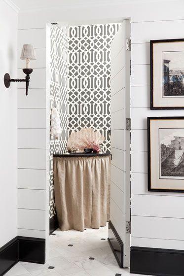 plank wall hidden door.