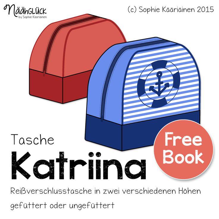 Die Tasche Katriina ist eine kleine geräumige Krims-Krams-Tasche mit extra großer Reißverschlussöffnung für das schnelle F...