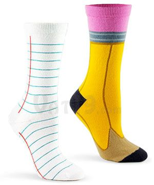 I actually have these socks! Aren't they super ugly? I love'em!