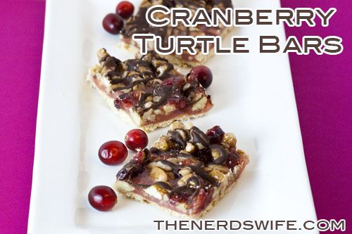 Cranberry Turtle Bars -- Perfect for Christmas or holiday baking!
