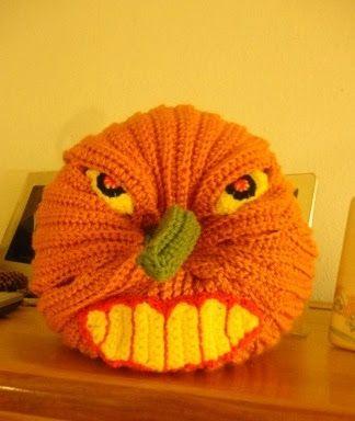 Crochet Parfait: Scary Halloween Pumpkin, free pattern 10/15