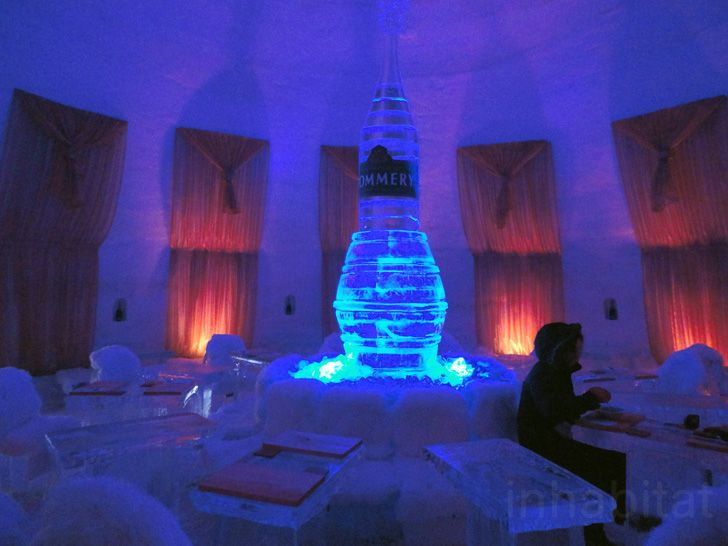 Located in the Parc Jean-Drapeau on St. Helen Island, the Snow Village is an Ice Hotel, bar, and restaurant that Montrealers can enjoy for a drink, or an overnight adventure.    Read more: Montreal's Snow Village is a Hotel and Bar Made Entirely From Ice | Inhabitat - Green Design Will Save the World