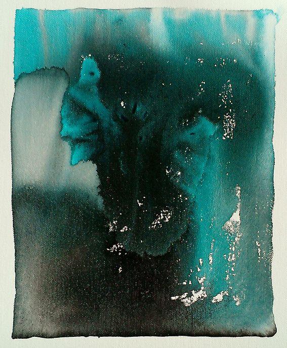 al jaren in mijn achterzak  een blauwdruk van jouw hart  getekend gevouwen versleten  toch hoop ik dat ik op een dag  hem aan jou teruggeven mag  Blauwdruk van het hart Gea Zwart 2014, ca. 18 x 21 cm.,  Acryl and inkt on canvas | 24 sept. 2014 Schilderde Gea Zwart dit schilderij en plaatste het met deze titel op facebook. Dichter Rene Alberts schreef er direkt een nieuw gedicht bij.