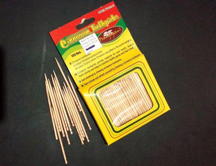 Cinnamon Toothpicks 100Pcs Ceylon Organic Free Shipping #ApeironPranjapani