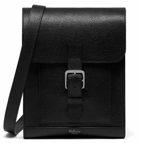 Mulberry Chiltern Small Messenger Bag ($775) ❤ liked on Polyvore featuring bags, messenger bags, purses, black, courier bag, leather courier bag, leather bags and genuine leather bag