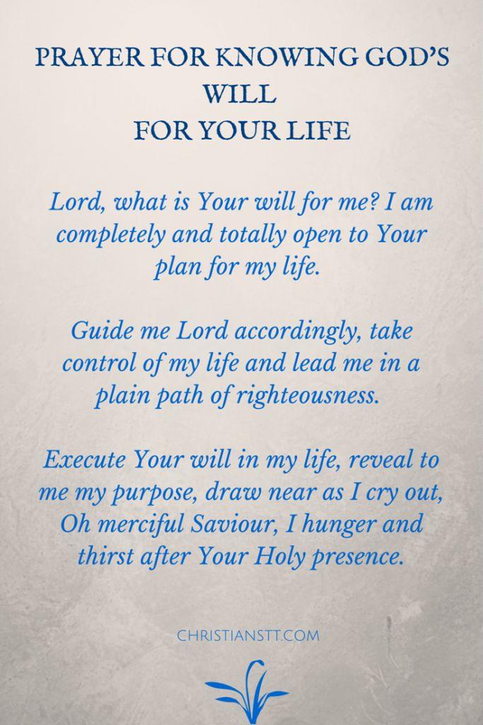 Prayer for God's will