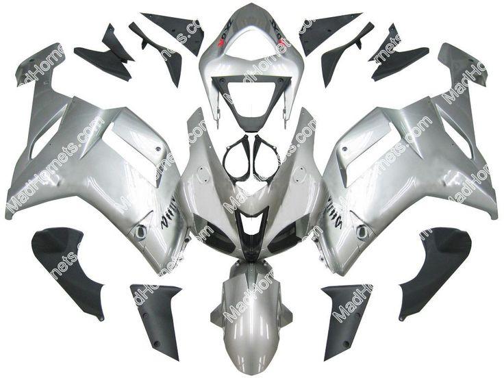Mad Hornets - Fairings Kawasaki ZX6R ZX636 Silver Ninja ZX6R Racing  (2007-2008), $539.99 (http://www.madhornets.com/fairing-bodywork-for-kawasaki-zx-6r-zx636-silver-ninja-zx6r-racing-2007-2008/)