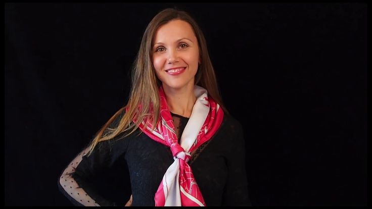 How to tie a scarf -  the Windsor knot silk scarves, premium gifts, pink scarf, Lausanne scarf| brandfinity.net