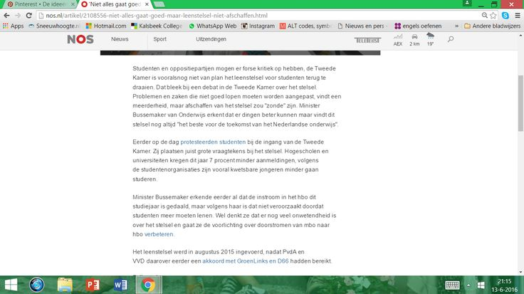 Dit artikel heb ik gevonden op Nos.nl  In het artikel staat precies wat het grote probleem nou eigenlijk is. Ik heb een soort gelijk artikel gebruikt voor de opzet van mijn Maatschappij Kritisch Monument. Dit artikel is van afgelopen woensdag 1 juni 2016. Dit is deel 1, er volgen nog een paar foto's van dit artikel want niet alles paste erop.
