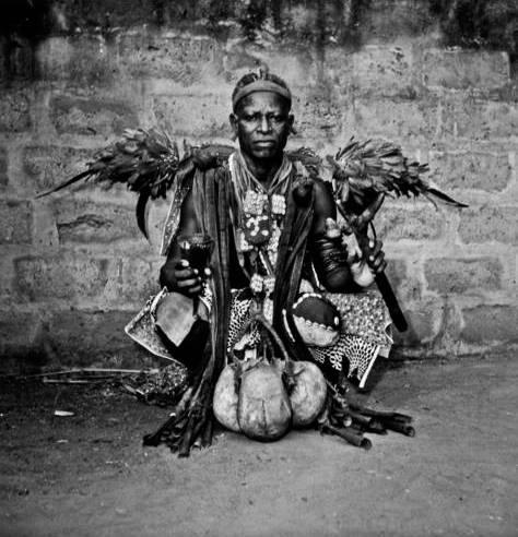 In Dahomey mythology, Shakpana (or Sopono, Sakpata) is the divinity of smallpox. He inflicted insanity and disease on humans. The equivalent in Yoruba mythology is Sopona, and in Orisha, Babalu Aye.