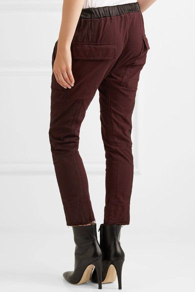 Haider Ackermann - Twill-paneled Cotton Track Pants - Burgundy