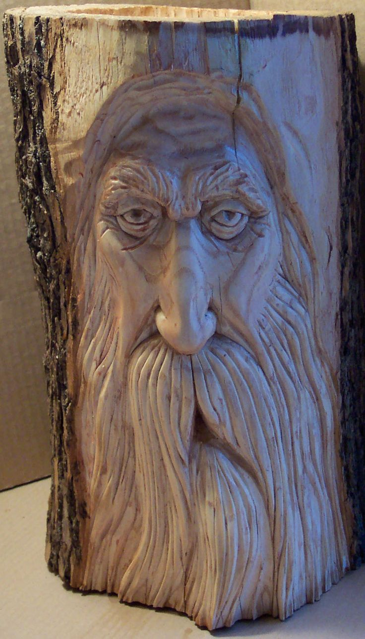 Woodspirit carving by greg hand wood carvings
