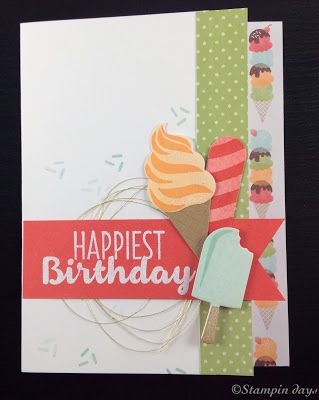 Stampin days; Cool Treat, Birthday card, Stampin UP!, Occasions2017