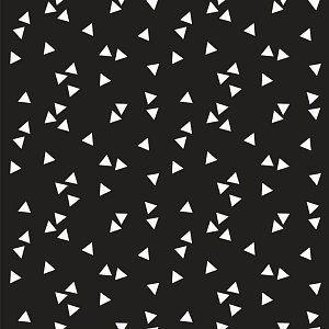 B* Inspired by Poppy Katoen Poplin, Triangle Black/White