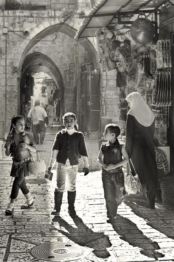 Jerusalem old city israel www facetozion com vintage photographyart photographystreet photoblack and whitesapphire