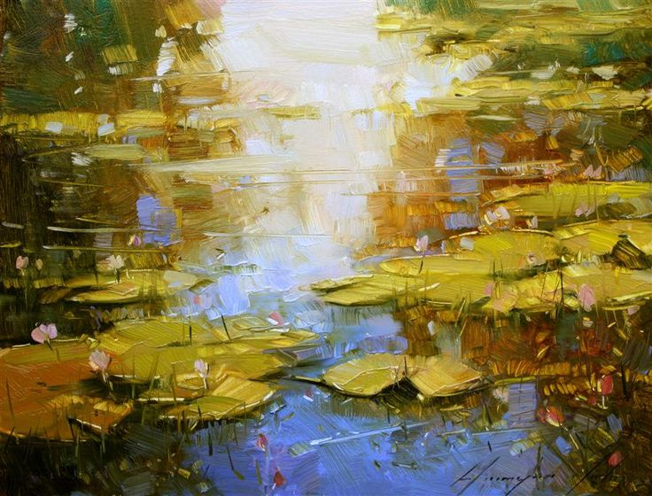 Water Lilies in Huntington Park by Vahe Yeremyan