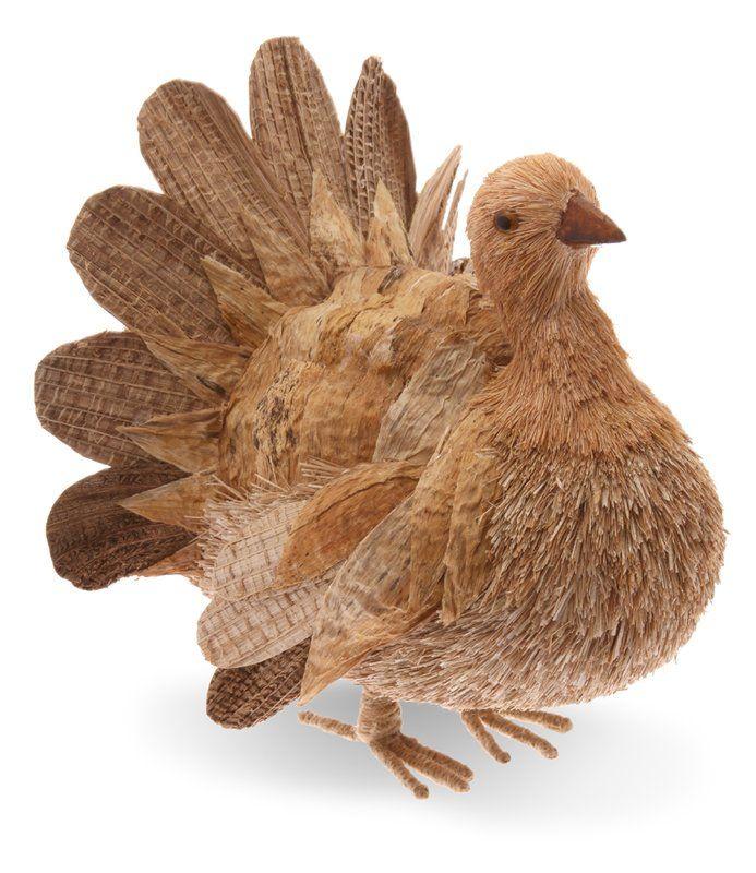 Natural Turkey Figurine by Alcott Hill - Gourd-geous Art & Harvest Decor - Thanksgiving decor ideas