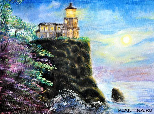 """картина """"Сказочный маяк"""""""
