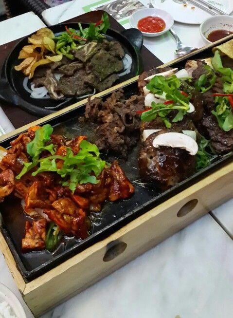 Bbq plate at Bibigo..Korean resto