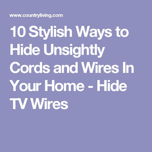 Best Tv Wire Cover Ideas On Pinterest Hide Tv Cables Hide - Creative and stylish solution to hide electrical wires cluttering a room