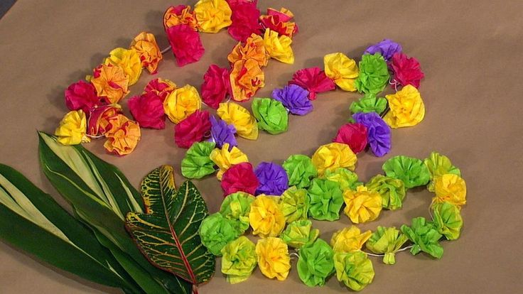 Crepe Paper Leis | The Chew