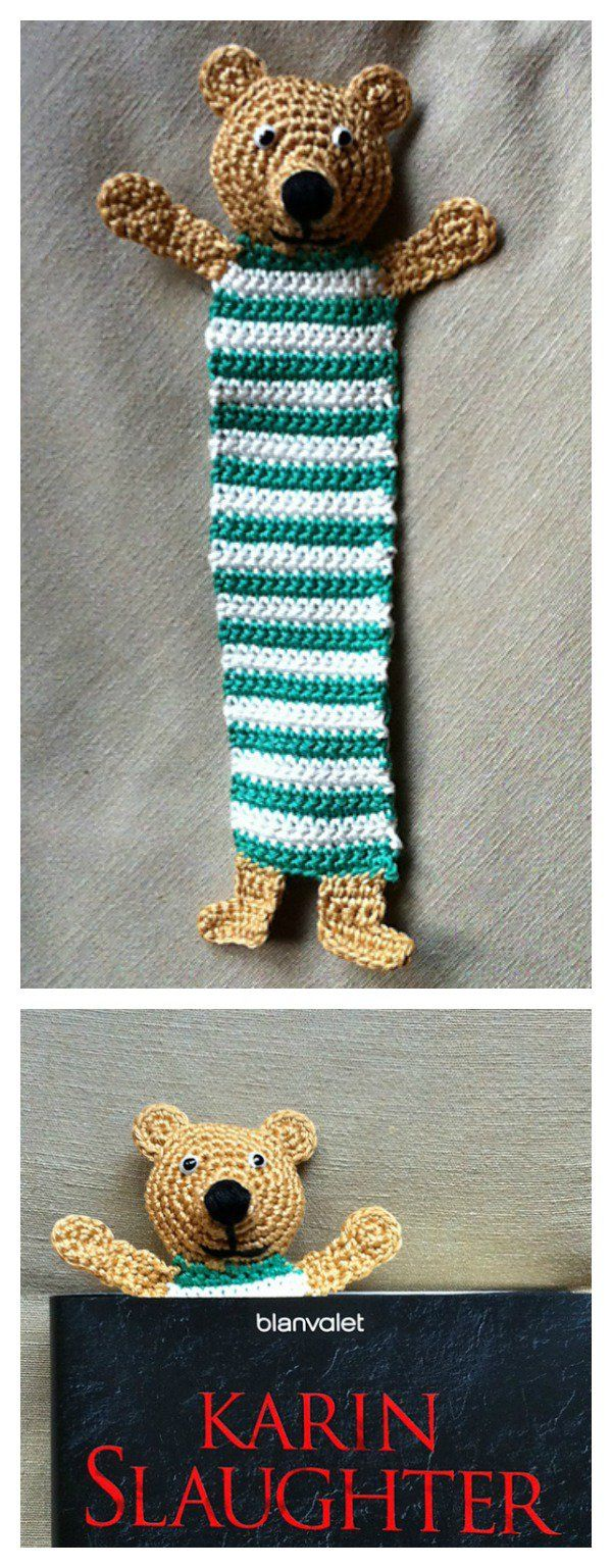 Crochet Teddy Bookmark Free Pattern