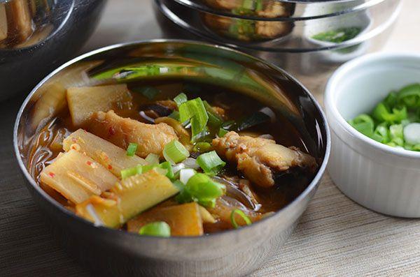 Spicy Korean Monkfish Stew (Agu Jjim) #SundaySupper - kimchi MOM ™